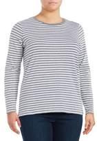 Lord & Taylor Plus Striped Shirt