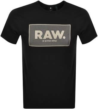 G Star Raw Box Logo Regular Fit T Shirt Black