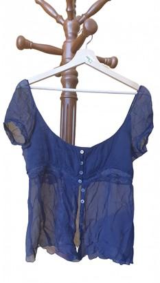 Philosophy di Alberta Ferretti Blue Silk Top for Women