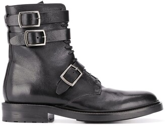 Saint Laurent Army 20 buckle boots