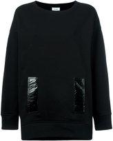 Courreges contrast pocket sweatshirt - women - Cotton - 3