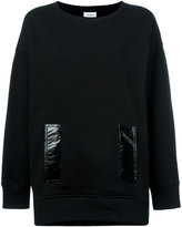 Courreges contrast pocket sweatshirt