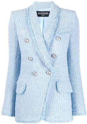 Balmain textured buttoned blazer