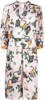 Marni Floral Print Mid-Length Dress