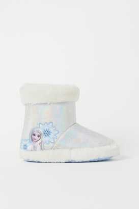 H&M Shimmery Printed Slippers