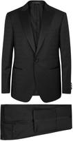 Pal Zileri Black Wool Jacquard Tuxedo