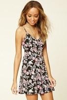 Forever 21 FOREVER 21+ Floral Crisscross Cami Dress