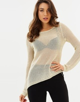 GUESS Gia Long Sleeved Asymmetrical Hem Sweater