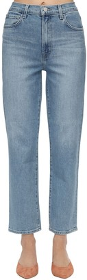 J Brand Jules High Straight Stretch Denim Jeans