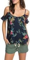 Roxy Dreamland Groove Floral Print Cold Shoulder Top