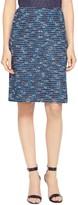 St. John Nia Tweed Knit A-Line Skirt