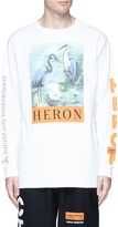 Heron Preston Heron bird slogan print long sleeve T-shirt