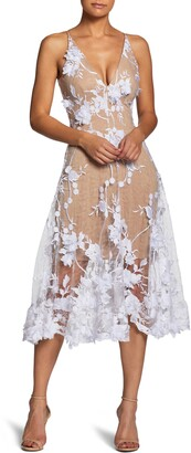 Dress the Population Audrey Embroidered Fit & Flare Dress