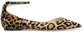 Jimmy Choo Lucy Leopard-print Calf Hair Pointed-toe Flats - Leopard print