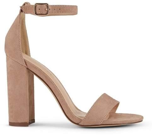 Miss Selfridge Honey barely there heel sandals