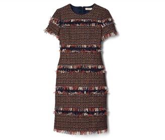 Tory Burch Tweed Fringe Dress