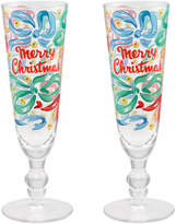 Cath Kidston Set of 2 Christmas Champagne Flutes