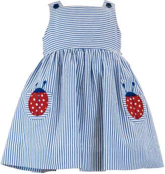 Florence Eiseman Girl's Striped Ladybug Sleeveless Dress, Size 2-6X