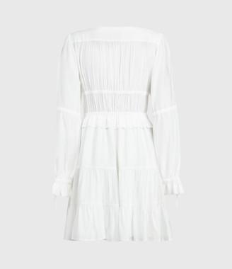 AllSaints Kimi Short Silk Blend Dress