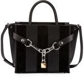 Alexander Wang Attica Striped Chain Satchel Bag, Black