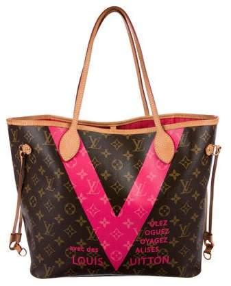 Louis Vuitton Neverfull MM Monogram V w/ Pouch