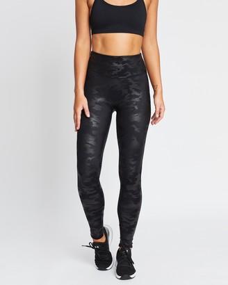 Spanx Faux Leather Camo Leggings