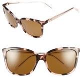 Kate Spade Women's 'Kasie' 55Mm Polarized Sunglasses - Havana/ Brown