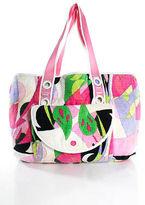 Emilio Pucci Multi-Color Abstract Printed Large Tote Handbag