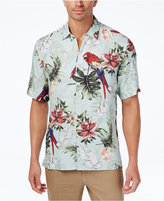 Tasso Elba Men's Floral Parrot Shirt, Only at Macy's