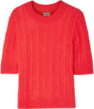 Temperley London Cable-knit Mohair-blend Sweater