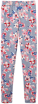 Joules Little Joule Girls' Floral Print Leggings, Soft Grey