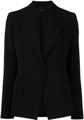 Theory Single-Breasted Tailored Blazer