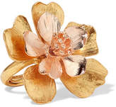 Oscar de la Renta Yellow And Rose Gold-tone Ring