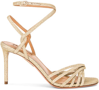 Aquazzura May 85 Sandal in Gold | FWRD