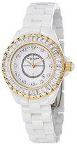 Stuhrling Original Women's 530S2.1113EP3 Quartz White Ceramic Link Bracelet Watch