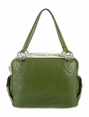 Marc Jacobs Smooth Leather Tote Green