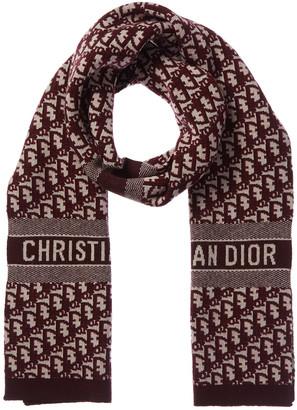 Christian Dior Oblique Wool & Cashmere-Blend Stole