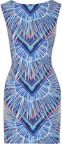 Mara Hoffman Cutout printed stretch-jersey mini dress