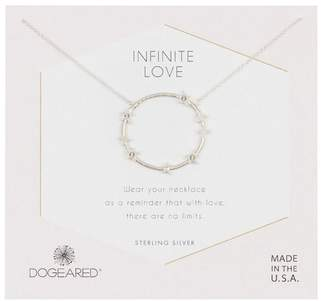 Dogeared Sterling Silver Infinite Love Large Star Halo Necklace