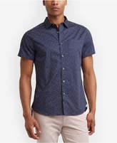 Kenneth Cole New York Men's Dot-Print Pocket Shirt