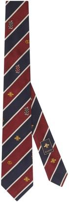 Gucci Symbols motif silk tie