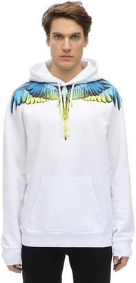 Marcelo Burlon County of Milan Printed Wings Cotton Jersey Hoodie
