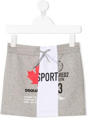 DSQUARED2 Contrast Panel Logo Skirt