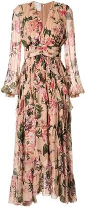 Ingie Paris Floral Print Flared Dress