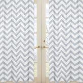 Sweet Jojo Designs Chevron Window Panel Pair in Grey/White