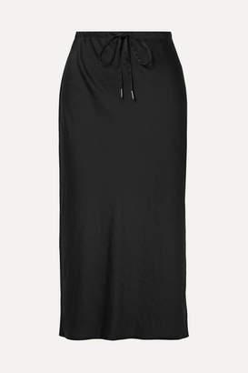 Alexander Wang Crinkled-satin Midi Skirt - Black