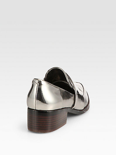 3.1 Phillip Lim Quinn Metallic Leather Loafers