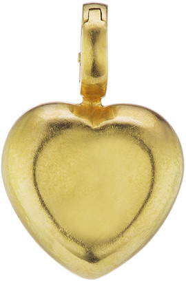 Christina Small Puffy Heart Charm, Yellow Gold by Alexiou