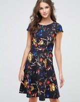 Paper Dolls Abstract Print Swing Dress