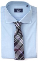 The Tie Bar Light Blue Pinpoint Solid Non-Iron Shirt